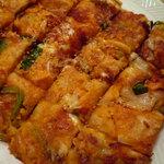 韓屋台 李俊 - もちキムチーズチヂミ」クセになるっ!チーズとお餅がとろ~り♪「