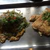 美光樹 - 料理写真:明石焼風食べかけと広島焼き