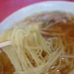 東堀石門子 - 麺は低加水タイプ、茹で時間が短いのが特徴~!私の好きなタイプになります。