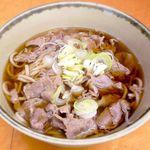 鷹 - 牛肉そば ¥680