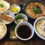 讃岐うどん 雅流 - カツとじ定食 1300円