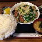 嵯峨野 - スタミナ定食\1,050+大盛り\300