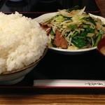 嵯峨野 - 圧縮率の高い白飯です!