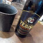 175°DENO担担麺 - エビス黒小瓶_400円