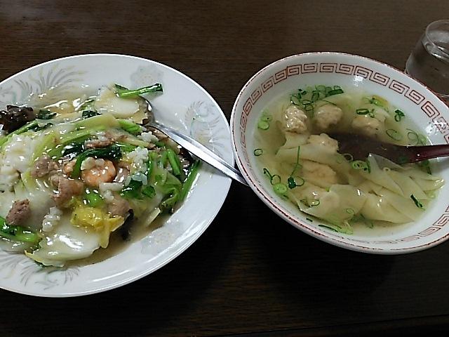 香美園 - 中華丼+雲呑スープ
