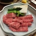 旅館 清兵衛 - 飛騨牛ステーキです