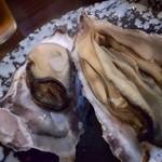 海平商店 - 牡蠣、大きいです。