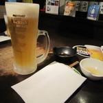 37670037 - 先ずは生ビールで乾杯です!やっぱりジンギスカンにはビールが合う気がします