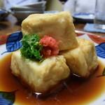 とらや - ボリューム抜群の揚げ出し豆腐。