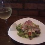 Otthimo - エビとアボカドサラダ+白ワイン