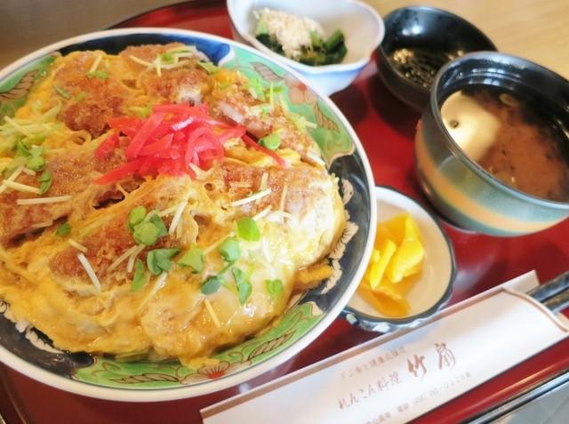 竹扇 - れんこんカツ丼定食☆