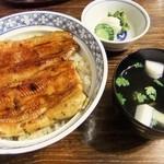 鰻 まるだい - 鰻丼(2800円)お吸い物・おしんこ付