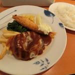 デニーズ - デミグラスハンバーグ&海老フライ899円
