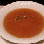 ステーキハウスニューテキサス - 息子のオニオンスープ