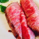 anjir - イチボのステーキ