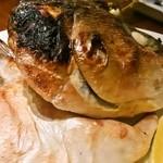 えん - ほんとは金目鯛の煮付けが食べたかったのですが…品切れということで、鰤かまの塩焼き