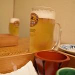 笑う門 - 生ビールは嬉しい¥390!