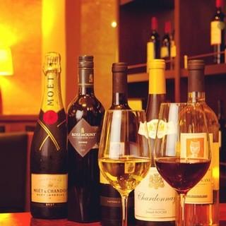 ハウスワインからヴィンテージまで、幅広いラインナップのワイン