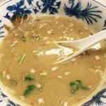 台湾料理 瑞鳳 北口店 - 芝麻醤麺、麺を食べ終わった後スープを薄めて戴きます
