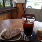 サニーサイドキッチン - ☆アメリカーノ〈エスプレッソ〉アイスコーヒー と オレンジとクルミの bread ♪2015年5 月6 日