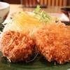 千石 - 料理写真:特選ヒレかつとカニクリームコロッケ定食 850円。