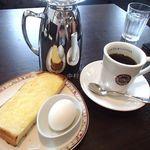 ビリオン珈琲 - トーストモーニング(ドリンク料金のみ)