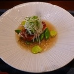 37711067 - 金目鯛と春野菜の梅肉蒸し
