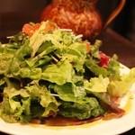 ピッコロ ヴァーゾ - ヒラマサのお刺身サラダ すごい野菜です@@