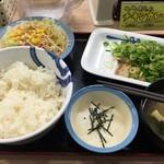 松屋 - ネギだく!塩ダレ豚とろろ定食【630円】(2015/4/30)