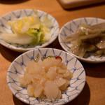 天ぷらめし 金子半之助  - おみおつけ3種(お好みで盛れます)