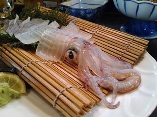 魚好亭 - イカ活け造り 約1,500円