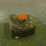 37720511 - よもぎの胡麻豆腐、紅葉おろし1
