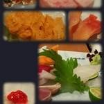 寿司 料理 まるも - 最初に色々出していただきました