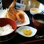道の駅 サザンセト とうわ レストラン - 魚と海老のフライが美味しい♪