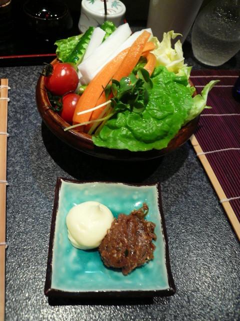 寛酔 - 有機野菜のサラダ