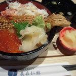 3773431 - 煮アナゴ、イクラ、カニの丼