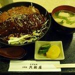 大和屋 - 何故かソースカツ丼(爆)