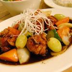 ハイファミリア - 黒酢酢豚¥850(セット¥950)