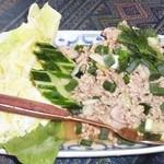 37749913 - 豚挽肉スパイシーサラダ