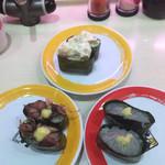 元気寿司 - オニオンポテト、生しらす、ホタルイカ