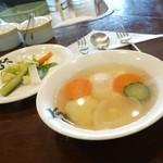 カレーハウスヤンギ - 2014年5月 卵スープ【150円】超お得!