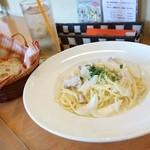 イタリア食堂 たぶち - 2014年5月 Bランチ(グリグチキンと新玉ねぎのクリームソース)