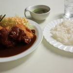 37752094 - ホタテフライカレー(スープ・サラダ付)