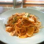棕櫚  - 豚バラ肉とたけのこのトマトスパゲッティ