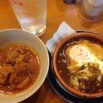 ハンバーグレストラン まつもと - おつまみセット(芋焼酎、焼きカレー、豚の角煮)