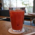アンヴェール - ストレートブラッドオレンジジュース550円