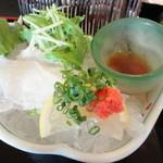 川魚・郷土旬菜 うおとし - ナマズの刺身