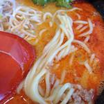 慶珉 - 料理写真:「白胡麻坦々」の麺アップ