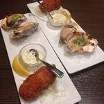 37771777 - 旬の牡蠣尽くしランチのカキフライ・焼き牡蠣・素焼き牡蠣