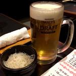 博多黒鉄 今泉 - ハッピーアワー100円ビール